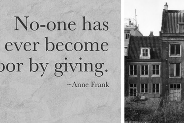 Danke für diese Worte, Anne Frank