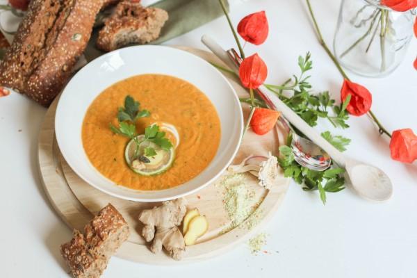 Süßkartoffel-Ingwer-zu-Hause-Suppe